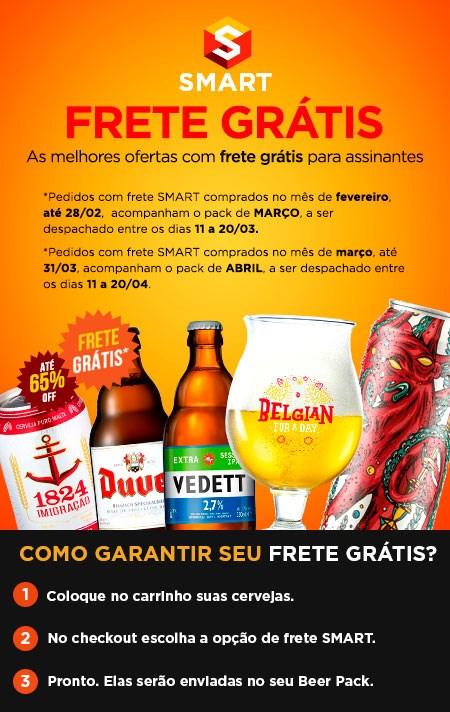 Frete Smart - Cervejas com Frete Grátis ou Reduzido.