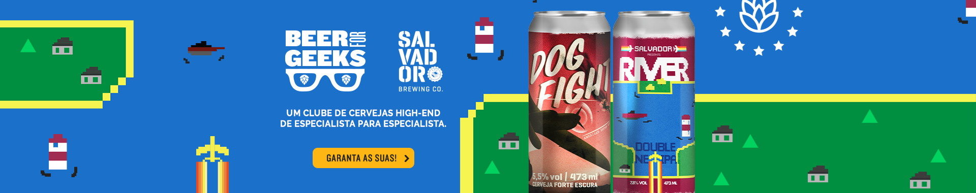 Beer For Geeks Agosto - Banner Home Desktop