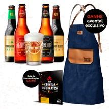 Assinatura Beer Pack 4 Cervejas e 1 Copo + Avental - Trimestral
