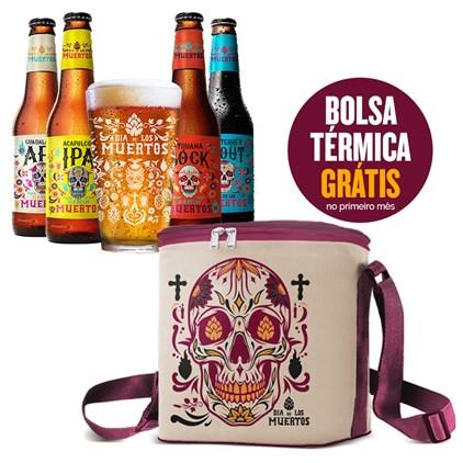 Assinatura Beer Pack 4 Cervejas e 1 Copo + Bolsa Dia de Los Muertos