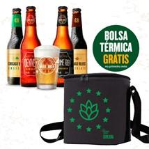 Assinatura Beer Pack 4 Cervejas e 1 Copo + Bolsa Termica