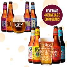 Assinatura Beer Pack 4 Cervejas e 1 Copo + Kit Exclusivo Dia de Los Muertos