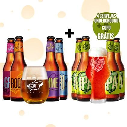 Assinatura Beer Pack 4 Cervejas e 1 Copo + Kit Super IPA