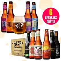 Assinatura Beer Pack 4 Cervejas e 1 Copo + Kit Viagem ao Mundo da Cerveja (Trimestral)