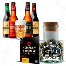 Assinatura Beer Pack 4 Cervejas e 1 Copo + Pote de Tampinhas - Trimestral