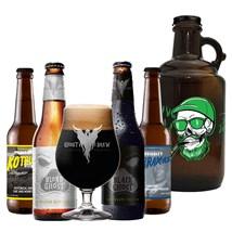 Assinatura Beer Pack - Cervejas com Growler Caveira (Semestral)