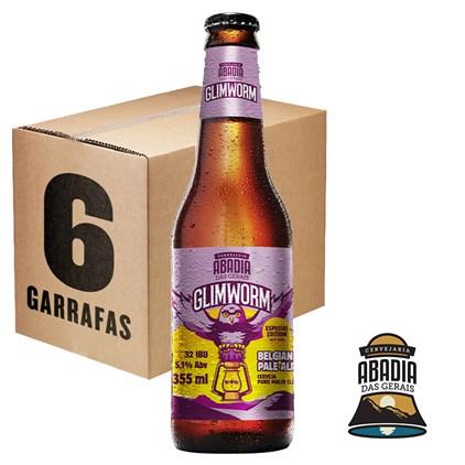 Caixa de Cerveja Abadia Glimworm Belgian Pale Ale Garrafa 355ml c/6un - REVENDA
