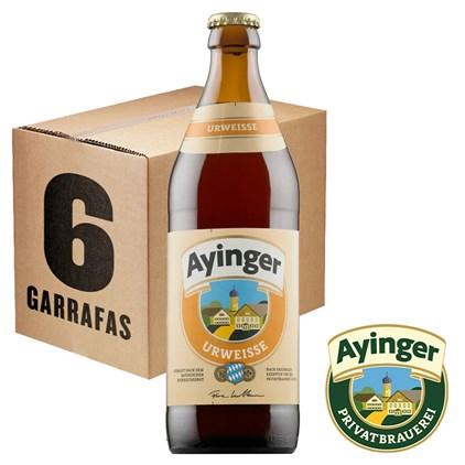 Caixa de Cerveja Ayinger Urweisse Garrafa 500ml c/6un - REVENDA