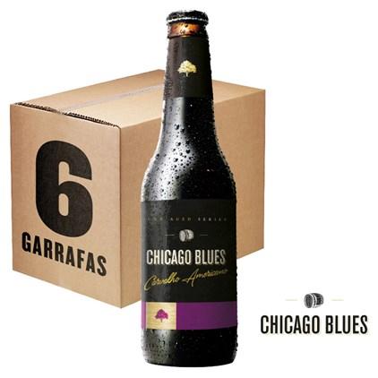 Caixa de Cerveja Chicago Blues Carvalho Americano 355ml c/6un - REVENDA