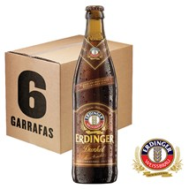 Caixa de Cerveja Erdinger Dunkel Garrafa 500ml c/6un - REVENDA