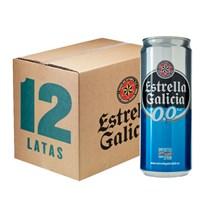 Caixa de Cerveja Estrella Galicia 0,0% Lata 330ml c/12un - REVENDA