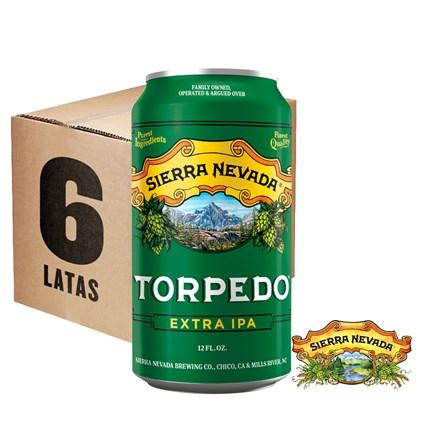 Caixa de Cerveja Sierra Nevada Torpedo Extra IPA Lata 355ml c/6un - REVENDA