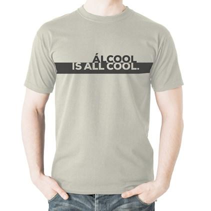 Camiseta Álcool is All Cool Gelo P