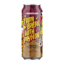 Cerveja Augustinus Imperial Sour From Brazil Whit Passion Lata 473ml