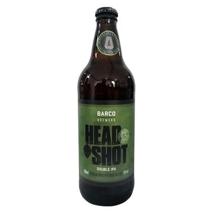 Cerveja Barco Head Shot Double IPA Garrafa 600ml