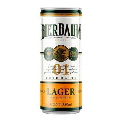 Cerveja Bierbaum Lager Lata 350ml