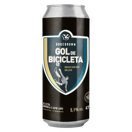 Cerveja Bodebrown Gol de Bicicleta Brasilianisch Kolsch Lata 473ml