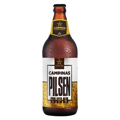 Cerveja Campinas Pilsen Garrafa 600ml