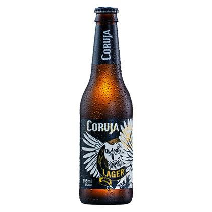Cerveja Coruja Lager Garrafa 355ml