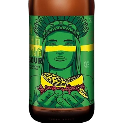 Cerveja Dama Sour Fruit Maracujá e Pimenta Rosa Garrafa 355ml