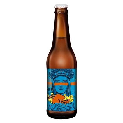 Cerveja Dama Sour Fruit Tangerina e Gengibre Garrafa 355ml