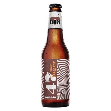 Cerveja DUM Missão 47 American Brown Lager Garrafa 355ml