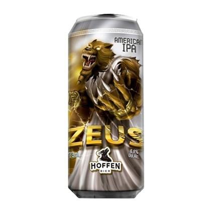 Cerveja Hoffen Bier Zeus American IPA Lata 473ml