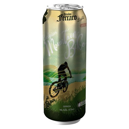 Cerveja Irmãos Ferraro Belgian Mountain Bike Low Carb Lata 473ml