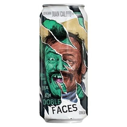 Cerveja Juan Caloto Double Faces Juicy IPA Lata 473ML