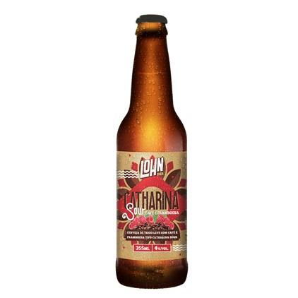 Cerveja Lohn Bier Catharina Sour com Café e Framboesa Garrafa 355ml