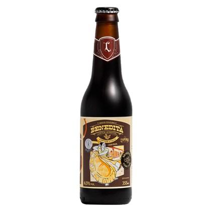 Cerveja Louvada Benedita Coffee Stout Garrafa 355ml