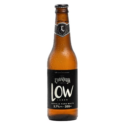 Cerveja Louvada Lager Low Garrafa 355ml