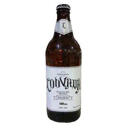 Cerveja Louvada Pilsen Garrafa 600ml