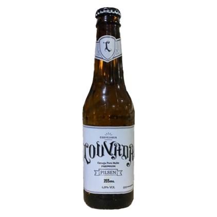 Cerveja Louvada Premium Pilsen Garrafa 355ml