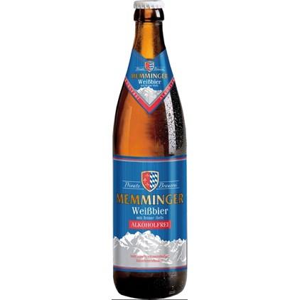 Cerveja Memminger Weissbier Alkoholfrei Garrafa 500ml