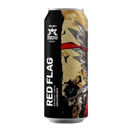 Cerveja Nordus Red Flag Irish Red Ale Lata 473ml