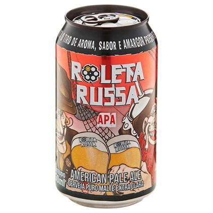 Cerveja Roleta Russa APA Tambor Lata 350ml