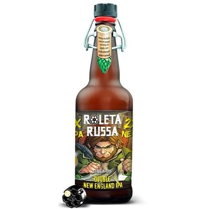 Cerveja Roleta Russa Double New England IPA Garrafa 500ml