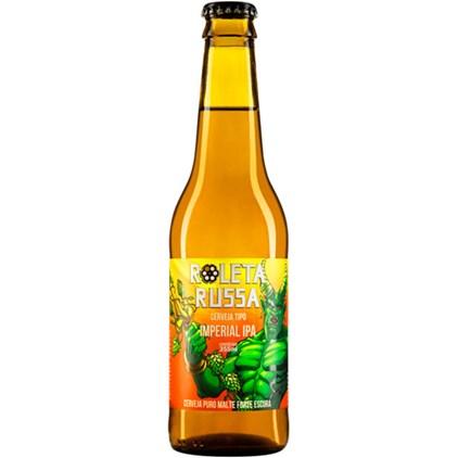 Cerveja Roleta Russa Imperial IPA Garrafa 355ml