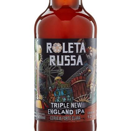 Cerveja Roleta Russa Triple New England IPA Garrafa 500ml