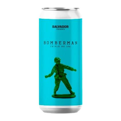 Cerveja Salvador Bomberman Triple NE IPA Lata 473ml