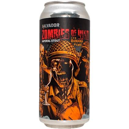 Cerveja Salvador Zombies of War Imperial Stout Banana + Café Lata 473ml