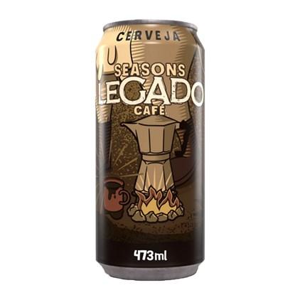 Cerveja Seasons Legado Café Stout Lata 473ml