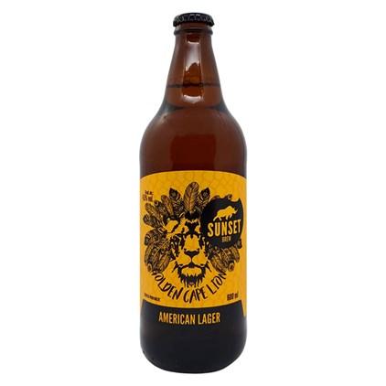Cerveja Sunset Golden Cape Lion Garrafa 600ml
