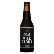 Cerveja Three Monkeys Beer Goat Milk Stout Garrafa 355ml