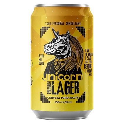 Cerveja Unicorn Premium Lager Lata 350ml