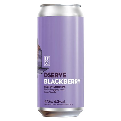 Cerveja Ux Brew Dserve Blackberry Sour IPA Lata 473ml