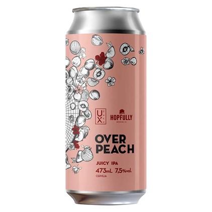 Cerveja Ux Brew Over Peach Juicy IPA Lata 473ml