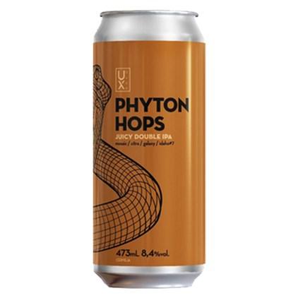 Cerveja UX Brew Python Hops Juicy Double IPA Lata 473ml
