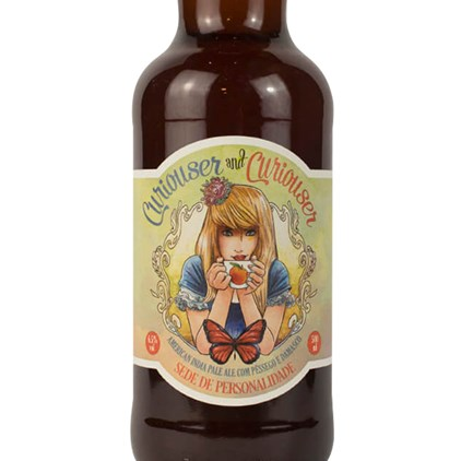 Cerveja Wonderland Curiouser and Curiouser Fruit IPA Garrafa 500ml